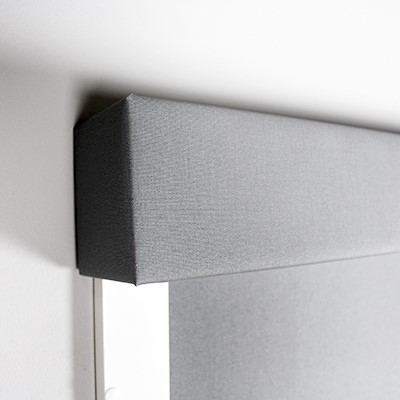 BlocOut Blind Surface mount Pelmet Close Up Front