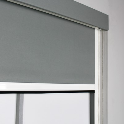 Bloc Blinds Product List BlocOut XL Grey Blind Image with Pelmet