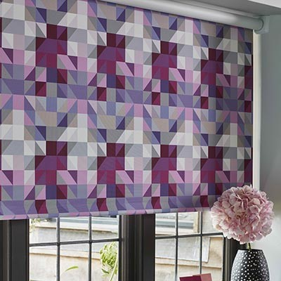 Bloc Blinds Product List EasyFit Purple design roller Blind Image