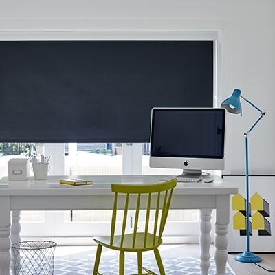 Bloc Blinds Product List Premium Roller navy Blind Image