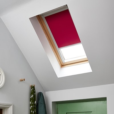 Skylight Red Blind in roof window