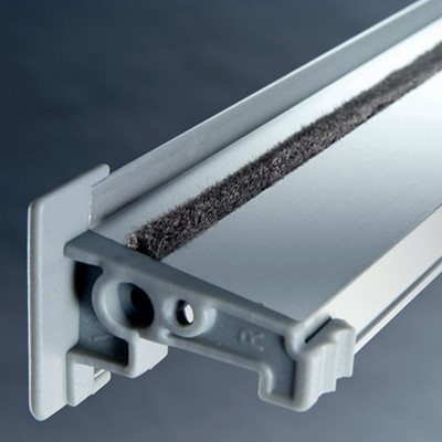 Silver Aluminium siderail for blind close up